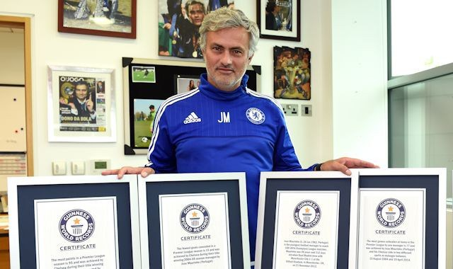 Chelsea Manager Jose Mourinho Enter Guinness Book of Records (See Why)